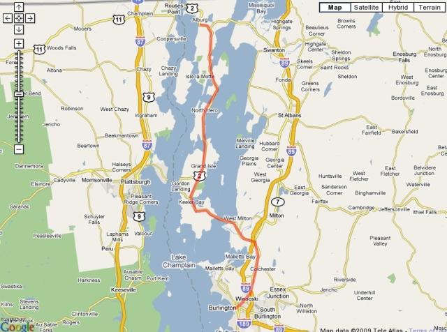 Day 6, Burlington to Alburg