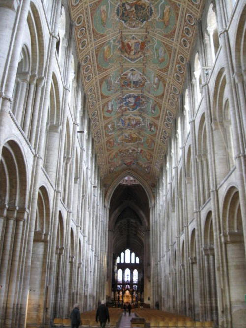 The painted ceiling on Ely Cathedral