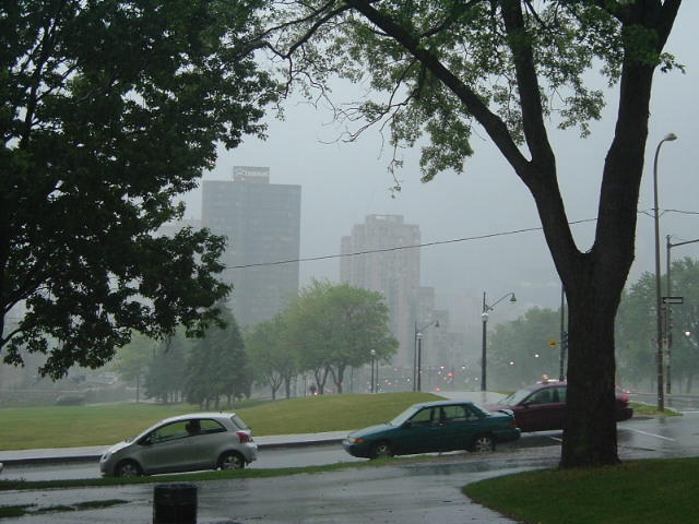 Montreal on a rainy Sunday