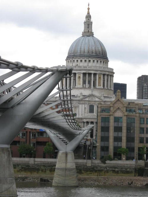 Here's then footbridge across the Thames to St Paul's Catherdral