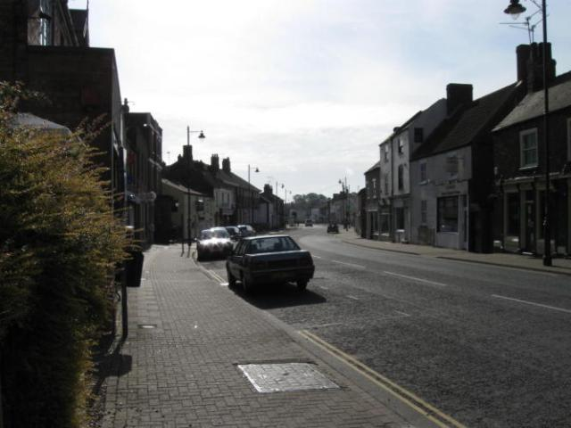 The gritty High Street of Holbeach first thing in the morning