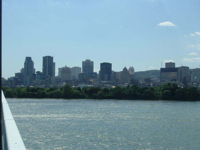 My first sight of the  Montreal skyline