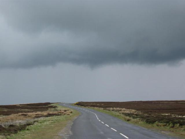 The weather closed in on top of the Moors
