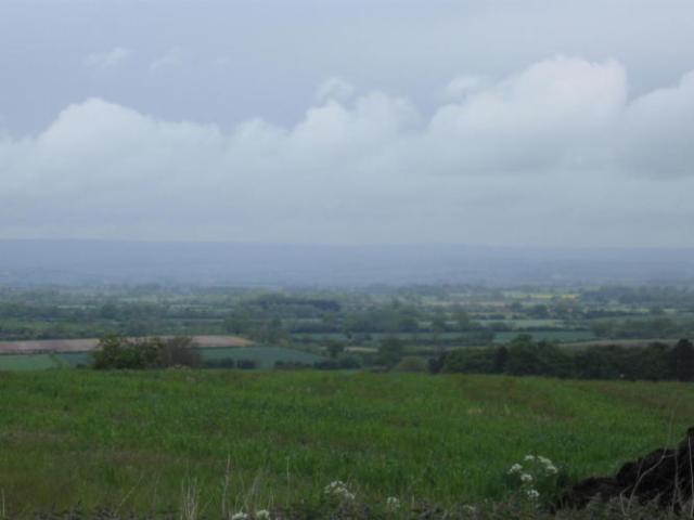 Looking down into the Vale of Pickering