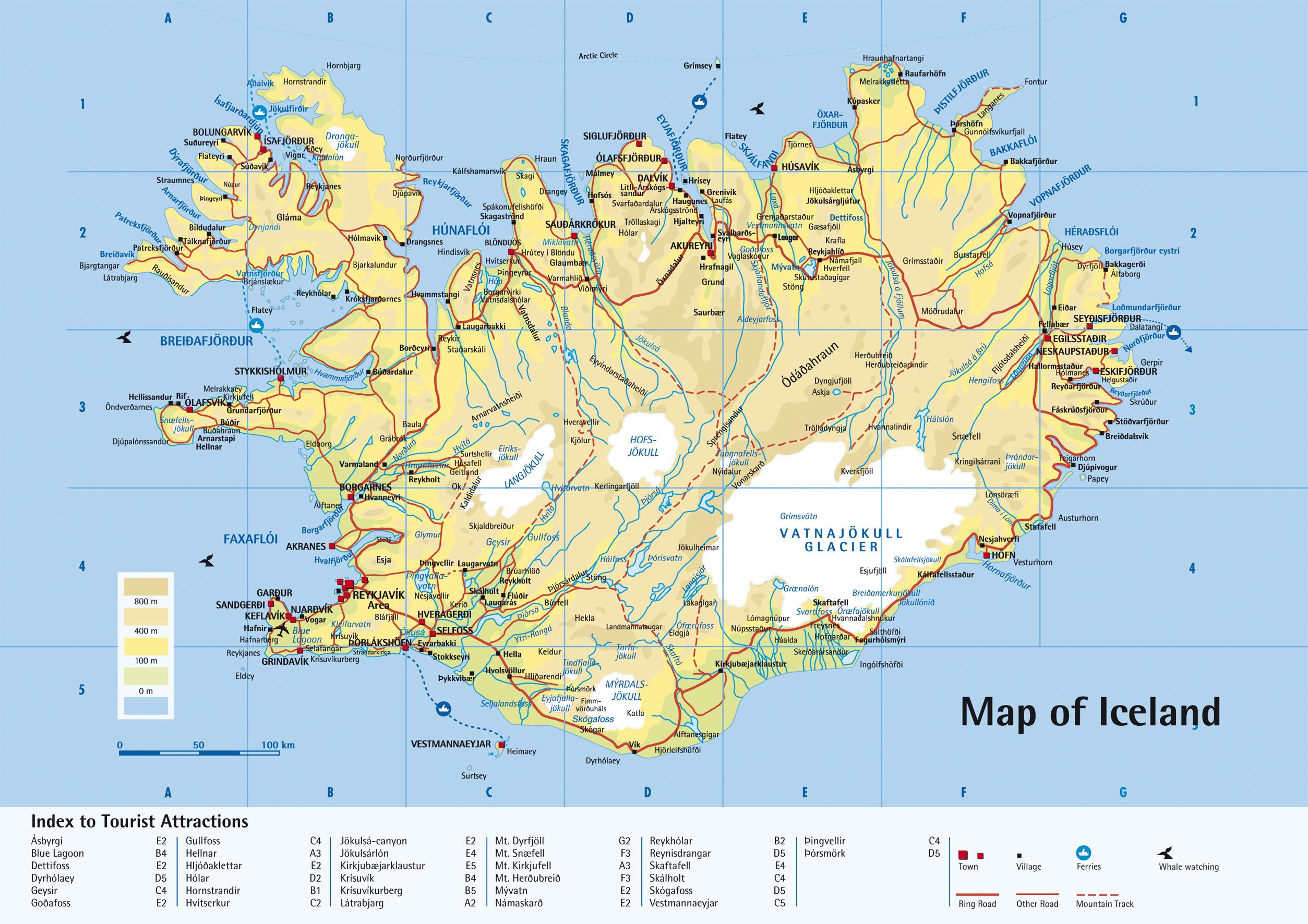island karta ISLAND Karta Islanda – Autokarta – Zemljovid   Gorila island karta